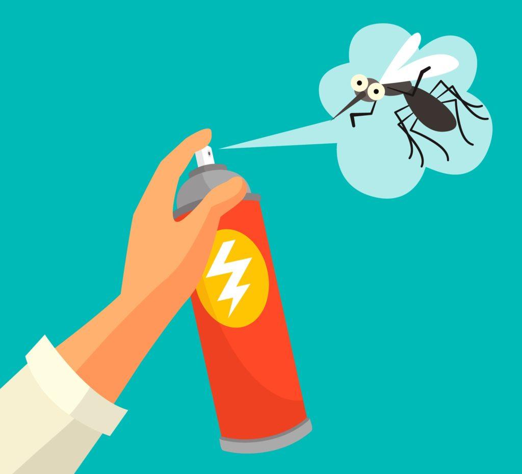 Passar inseticida em mosquito da dente