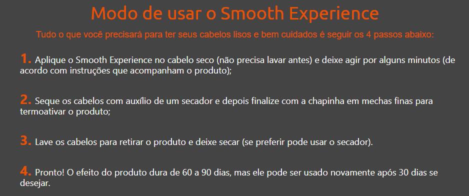 Smooth Experience preço