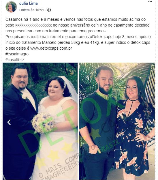 depoimento de emagrecimento do casal usando detox caps