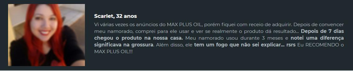 max plus oil preço